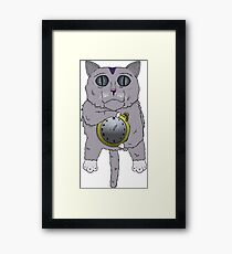 The Cat holds the Time Framed Print