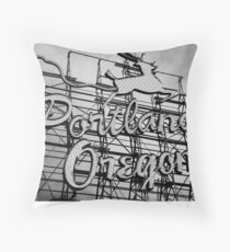 Welcome To Portland Throw Pillow