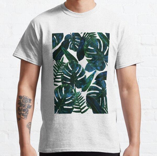 Perceptive Dream, Tropical Botanical Jungle Watercolor Painting, Monstera Palm Nature Bohemian Blush Illustration Classic T-Shirt