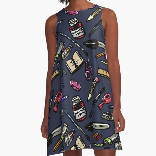 Art Supplies Bonanza!!! A-Line Dress