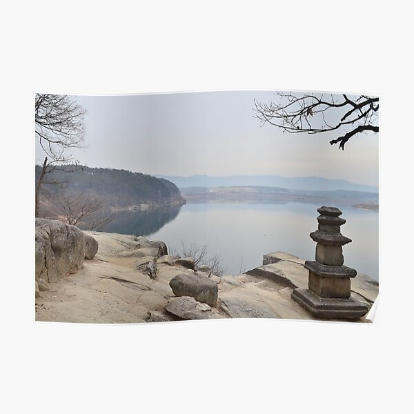 River Print, Calming Wall Art, Printable Wall Art, Temple Photo, Buddhism Wall Art, Neutral Wall Art Poster