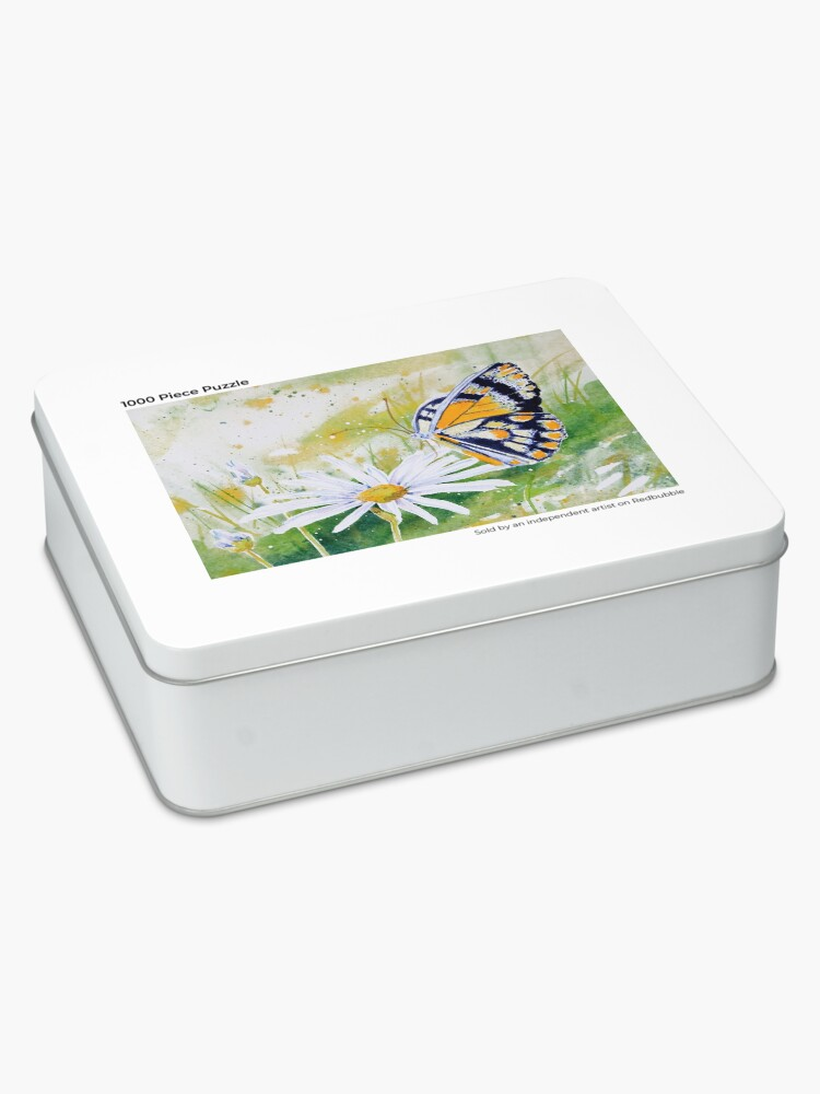 Alternate view of Butterfly Resting on a White Daisy Jigsaw Puzzle