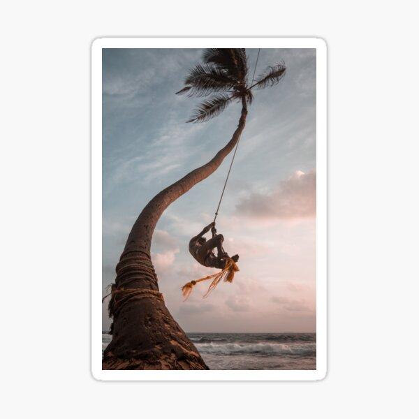 BEACH  OCEAN TREE Sticker