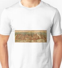 Konstanz Vintage map.Geography Germany ,city view,building,political,Lithography,historical fashion,geo design,Cartography,Country,Science,history,urban T-Shirt
