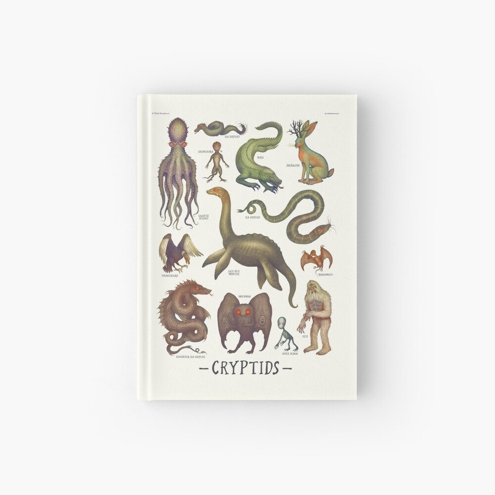 Cryptids, Cryptozoology species Hardcover Journal