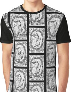 The World Tarot Card - Major Arcana - fortune telling - occult Graphic T-Shirt