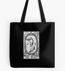 The World Tarot Card - Major Arcana - fortune telling - occult Tote Bag