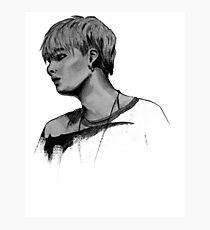 Min Yoongi Grey-scale sketch Photographic Print