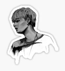 Min Yoongi Grey-scale sketch Sticker