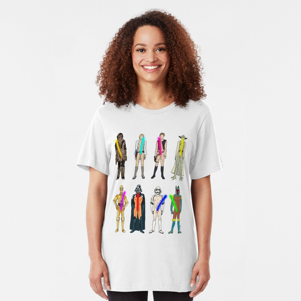 Naughty Lightsabers Slim Fit T-Shirt