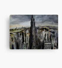 Empire State Building New York Cityscape East Coast America Contemporary Acrylic Painting Canvas Print