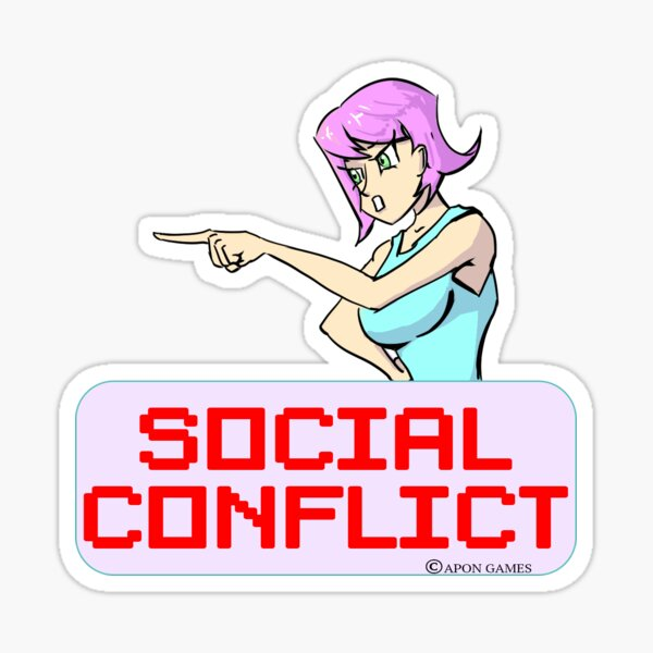 Social Conflict Time! Sticker