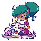 Harpy and Bleep Bleep's tea time by Brianne Drouhard