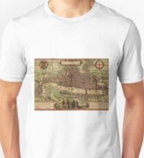London Vintage map.Geography Great Britain ,city view,building,political,Lithography,historical fashion,geo design,Cartography,Country,Science,history,urban T-Shirt