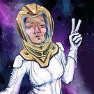 Space Selfie - Purple by KatArtDesigns