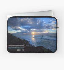 Sunrise Ballina with Photographers Details Laptop Sleeve
