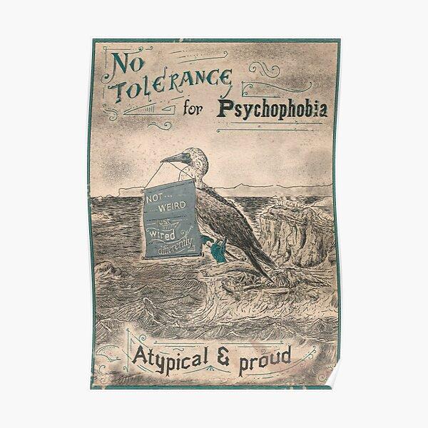 No tolerance for psychophobia - Neurodiversity Poster