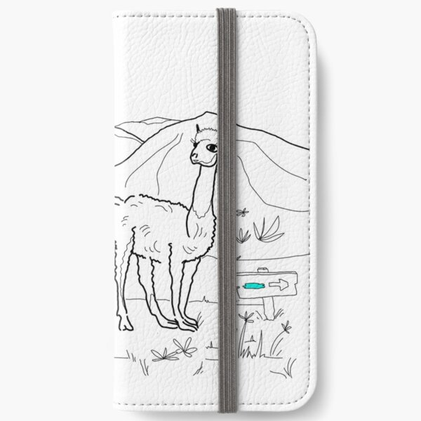 Lama Land \ by Suzies Sparrow iPhone Wallet