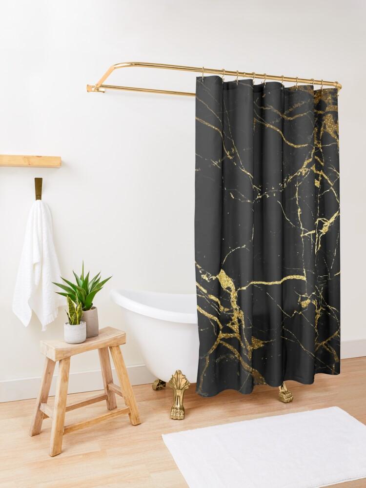 Alternative Ansicht von Marmor Duschvorhang