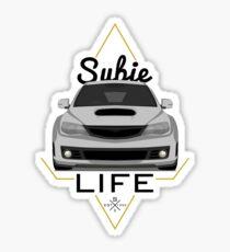 Subie life white Sticker
