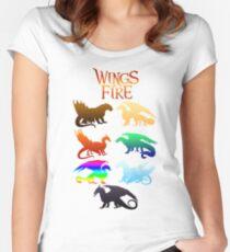 Flügel der Feuerstämme Tailliertes Rundhals-Shirt