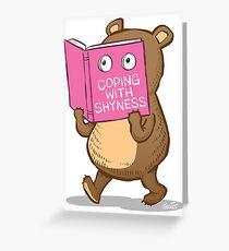 Shy Bear Greeting Card