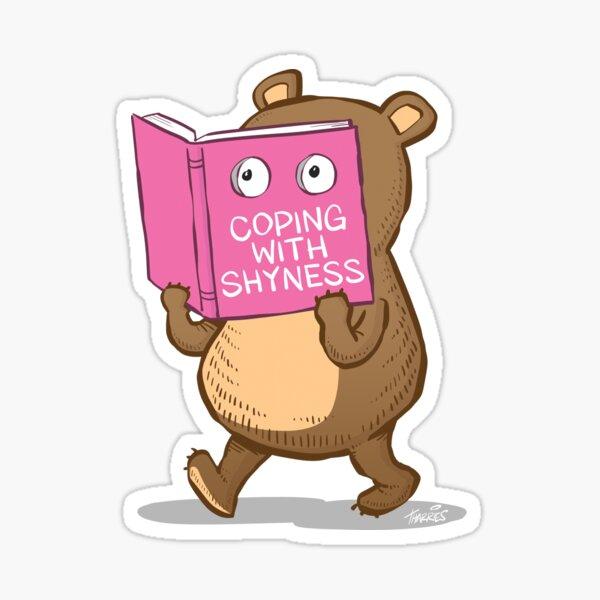 Shy Bear Sticker