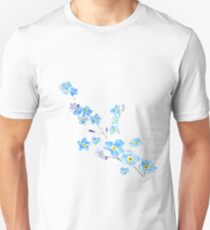 blue forget me not  T-Shirt