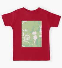 Green Abstract Flower Painting Kids Tee