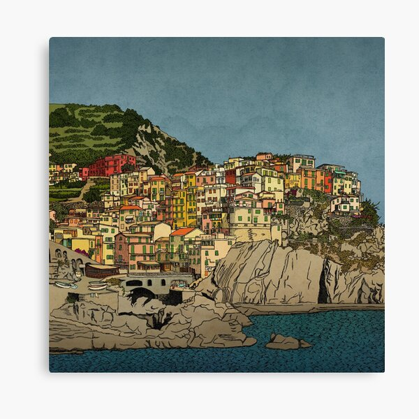 Of Houses and Hills Canvas Print