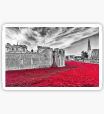 Poppies at The Tower Of London Sticker