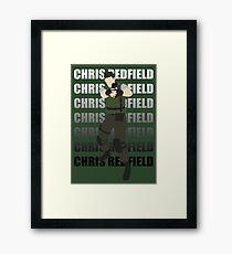 Chris Redfield  Resident Evil Remake version Framed Print