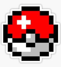 8bit Pokeball Sticker