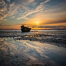 Wreck at Sunset by Linda Cutche