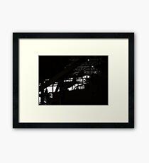 Aviation silhouette Framed Print