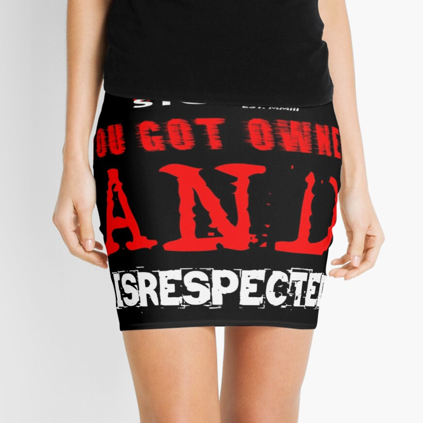 YOU GOT OWNED AND DISRESPECTED Mini Skirt