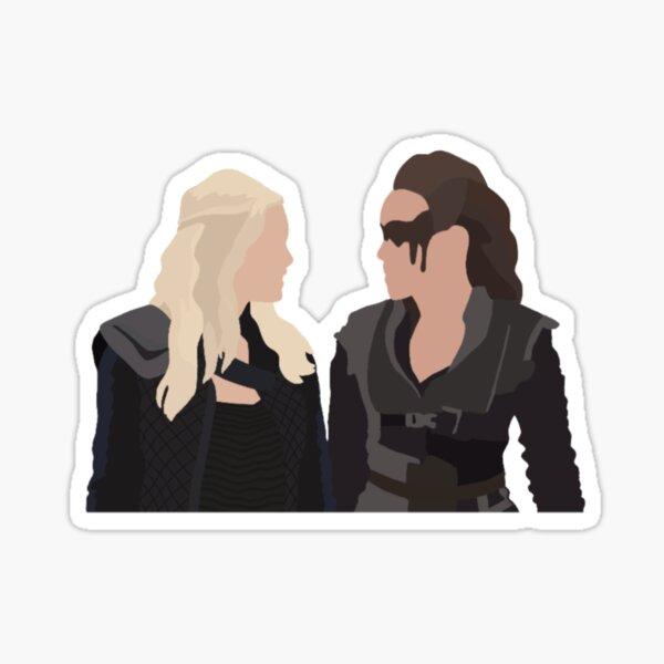 Clarke and Lexa Sticker