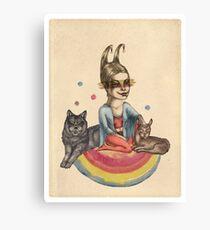 My little circus Canvas Print