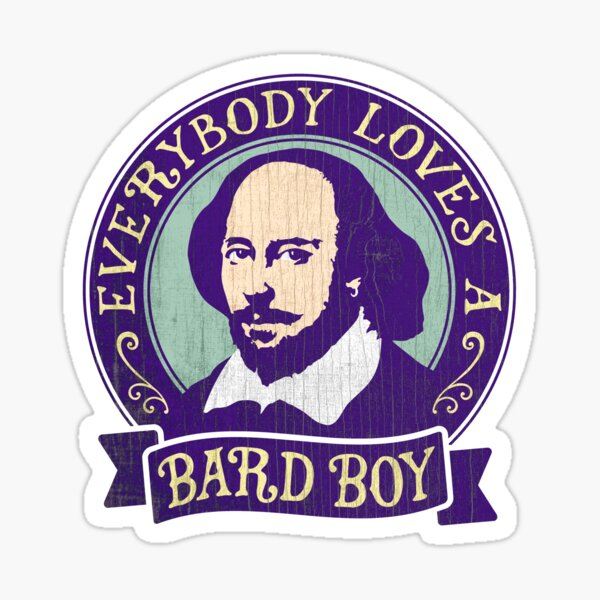 William Shakespeare Bard Boy Portrait Sticker