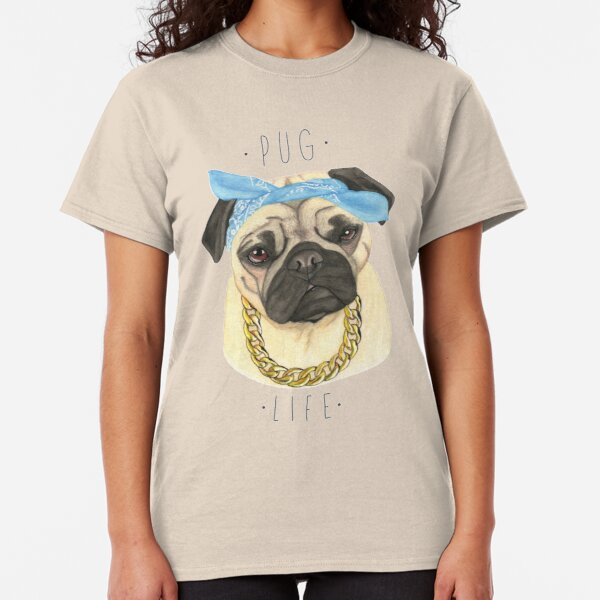 PUG LIFE MENS T SHIRT FUNNY COOL PARODY THUG HIPSTER NOVELTY FASHION DOG GIFT