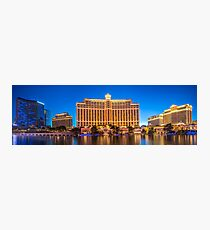 Panorama of the The Bellagio Hotel and Casino  Photographic Print