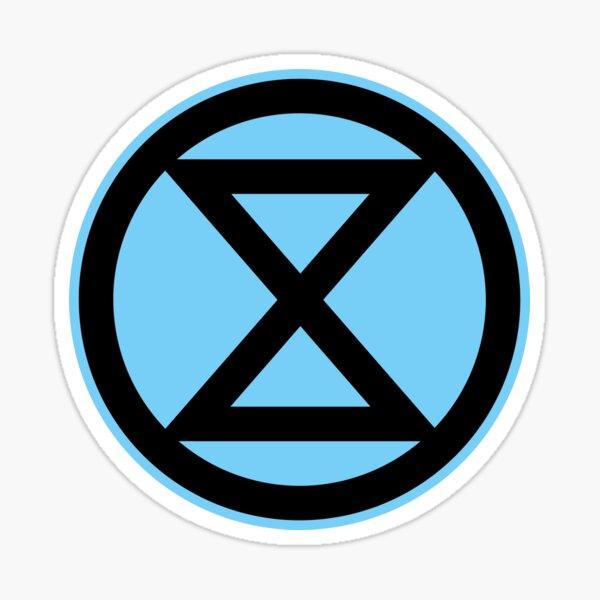 Extinction Rebellion Black on Blue Sticker