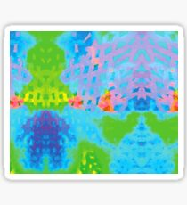 Abstract Blue Green Colorful Water Color Painting Background Sticker
