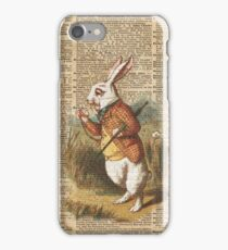 White Rabbit Alice in Wonderland Vintage Art iPhone Case/Skin