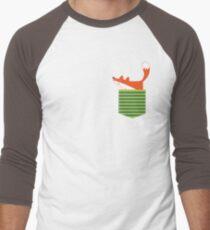 Fuchs in meiner Tasche Baseballshirt für Männer