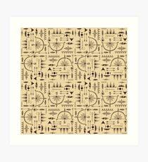 American Indians Pattern Art Print