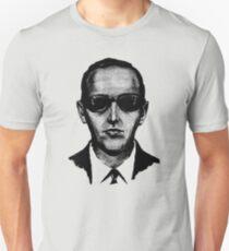 D.B. Cooper - Black and White  Unisex T-Shirt