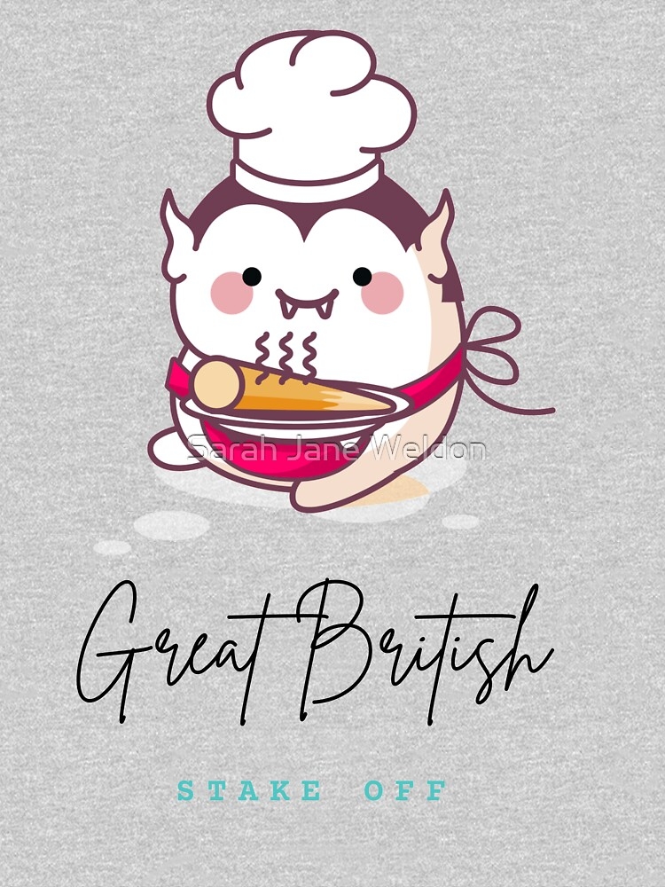 'The Great British Stake Off' cute kawaii vampire doing a bit of baking by SarahRowsSolo