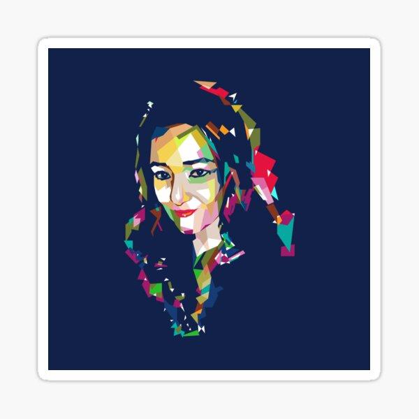 Digital Art Woman illustration Sticker
