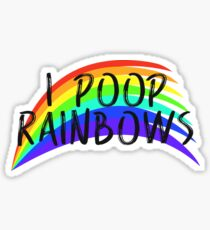 I POOP RAINBOWS Sticker